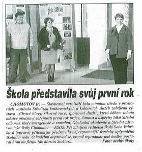 Škola představila svůj první rok, Nástup, říjen 2013